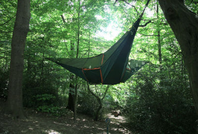 A hammock and a tent make sweet, sweet love