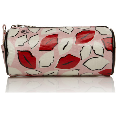 How cute is this lip cosmetics bag? Love it! $43 at Lulu Guinness Lulu Guinness makeup travel bag