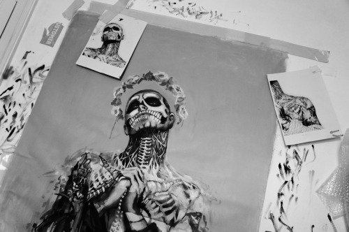 in progress again - Rick Genest - Zombie Boy portrait