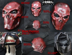 Blood Red Punisher Mask 6