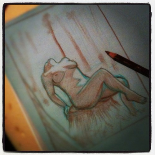 Sketchy #sketch #drawing #nude #figures  #figurative  #inprogress  (Taken with instagram)