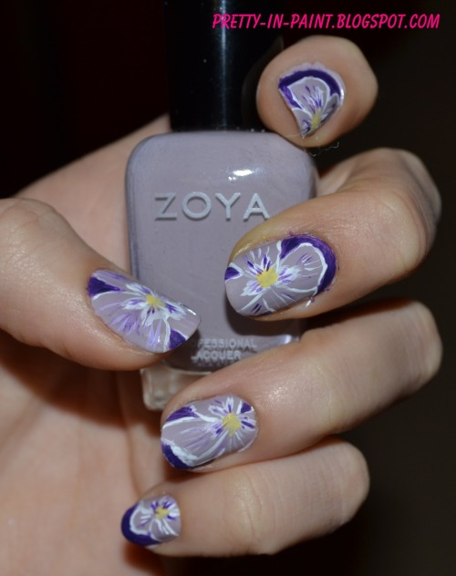 pretty-in-paint:  Mani of the day! Violets with Zoya Kendal! Click the picture for the blog post and tutorial!