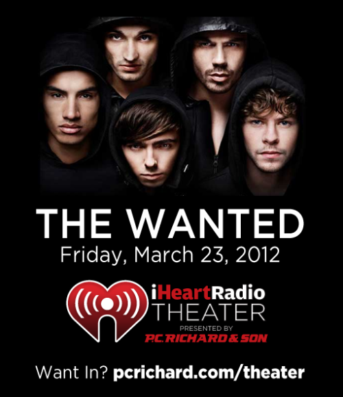 24 hours left to enter for a chance to win tickets to The Wanted in NYC! London-based British/Irish boy band The Wanted will be at the iHeartRadio Theater presented by P.C. Richard & Son on Friday, March 23rd! Only 200 people will be allowed into the show, and your chance is on Facebook and Twitter. How to Enter  You can enter for a chance to win tickets to this show by filling out the entry form on Facebook after liking our page, or retweet the message on Twitter found here. Good luck!