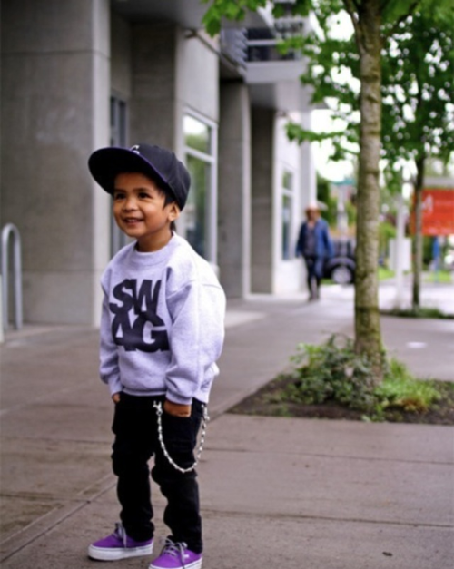 My kid will have this much #swag and take after his daddy(: