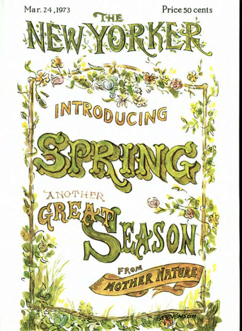 newyorker celebrates the vernal equinox with:  A James Stevenson cover from 1973.