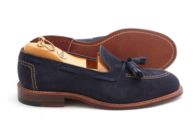 There are several classic shoe styles most often found in man's closet- loafers are one of them. Growing up, my dad pulled out the tassel loafer for big meetings at the main office. For this reason I love their signature tassels and classic silhouette, but this pair offers a modern twist for the younger man thanks to the contrasting sole and hopped up neutral color. Wear with jeans, possibly cuffed? We'll discuss that another day…