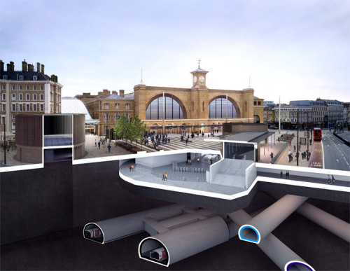 "blech:  ""The underground story of King's Cross square."" (via)"