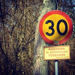 Speed sign. Sweden #sign #speed #sweden