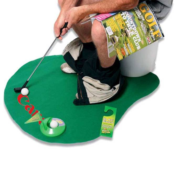"The potty putter. The ""Do Not Disturb"" sign is a nice touch."