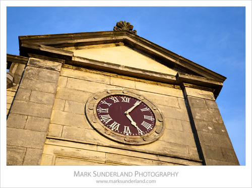 Clock at the Royal and Ancient Golf Club, St Andrews, Fife, Scotland