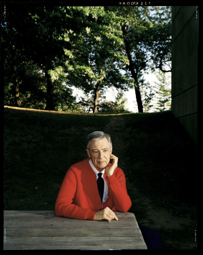 "kimberlyjames:  Today would have been Mr Rogers' 84th birthday.  Thanks for showing me how to rock a cardigan and always been a kind neighbor.   true story: one time some dudes stole mr. rogers's car, and it got into the news, like you'd expect the next day the car was back where he'd left it with a note that said ""we're so sorry, we never would've taken it if we'd known it was yours"" I like to think they recognized this as a sign from god and turned their lives around another true story: mr. rogers lobbied in favor of vcrs back when the tv and movie industries were against them, because he wanted families to be able to record shows and watch them together he was always, always thinking about children, letting them know it's okay to be sad or scared or mad and how to deal with it, letting them know there's at least one person in the world who loves them just the way they are and no matter who you were, no matter why you crossed his path, he wanted to know about your life and understand you and be your friend I believe he is a for-real saint and I wish I could be more like him but it's okay, I know he loves me just the way I am"