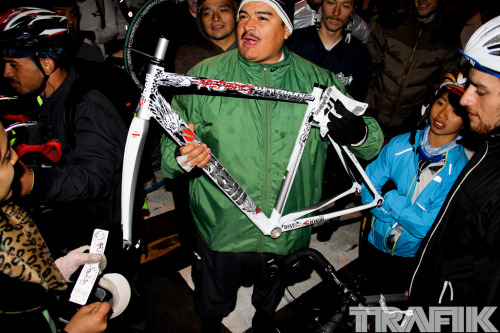 I guess It's good to hear that the Cinelli frame probably won't end up in Ebay. But you know that bike is gonna end up being the saddest fixed gear conversion ever. Hopefully I'm wrong. edit: I've been informed that this bike is actually in good hands!