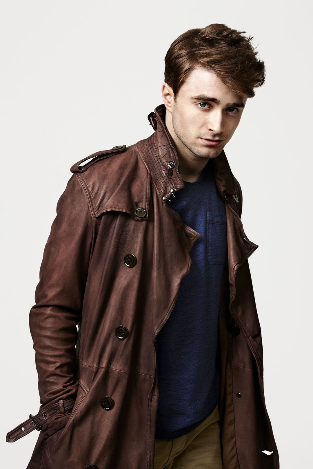 Daniel Radcliffe by Danielle Levitt. Such an cool guy, looks hot in leather, danced the entire shoot and even did a lot of air kicks, i mean……