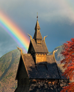 travelingcolors:  Beam of Light, Hopperstad Stave Church in Vik |  Norway (by John & Tina Reid on Flickr | via illusionwanderer)