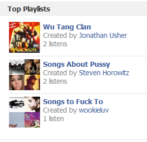 Sometimes I forget that my Spotify account is linked to my Facebook.