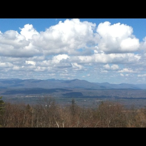 View of the Catskills at lunch!  (Taken with instagram)