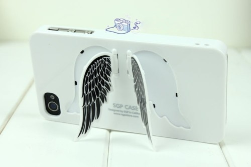 iPhone Angel Wing Case + Stand  via