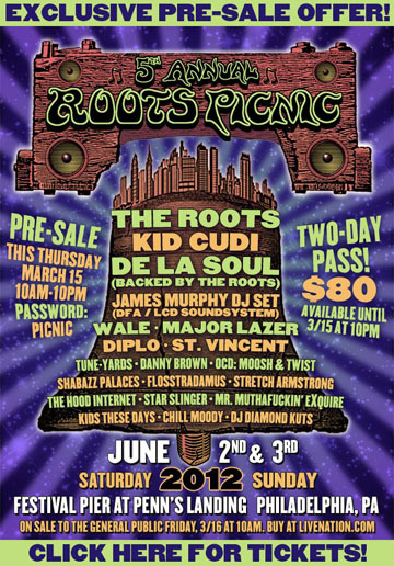 Rakim scheduled to perform at Roots Picnic 2012