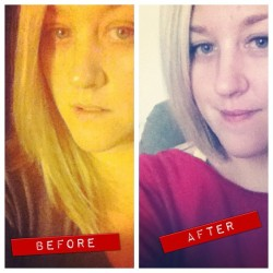 #marchphotoaday Day 20 | before and after :: got my hair cut recently for my birthday. The big 3-0! (Taken with instagram)