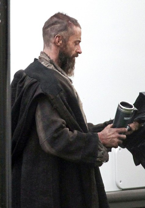 First picture of Hugh Jackman as Jean Valjean in Les Miserables