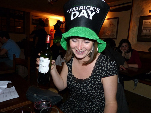 untitled on Flickr. St Patricks Day in France celebrated with lots of vin rouge.