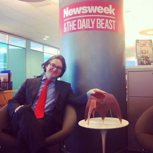 @thedailybeast's @bookbeast w/ his #asme digital ellie (Taken with instagram)