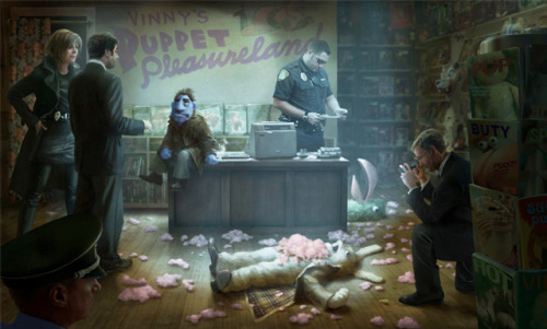 laughingsquid:  Happytime Murders, A Puppet Film Noir by The Jim Henson Company