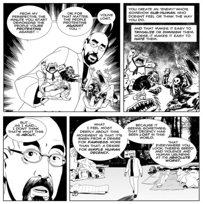"Black Mask Studios' 'Old Punks' Occupy Comics, Creators Rights http://www.wired.com/underwire/2012/03/black-mask-studios-occupy-comics/?pid=6449    The mainstream comics industry has spawned another alternative supergroup. 30 Days of Night creator Steve Niles and Epitaph Records owner and Bad Religion guitarist Brett Gurewitz have banded together with Halo-8′s Matt Pizzolo to form Black Mask Studios with the stated aim of disrupting the comics market.   ""It's become this monopolized walled garden where you're only allowed to grow two things: superheroes and movie treatments,"" Pizzolo told Wired via e-mail. ""We're going to open new space outside the entrenched market where we can cultivate more subversive experimental and literary comics to reach broader audiences.""   Read more….  wired:  The comic book equivalent of a supergroup tries to shake up the comic industry."