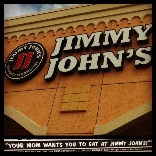 Your MOM wants you to eat at Jimmy John's! The Vito FTW (Taken with Instagram at Jimmy John's)