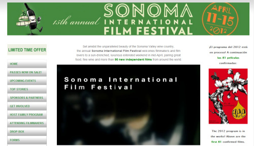 BEE is selected at the Sonoma International Film Festival in April! (www.sonomafilmfest.org)