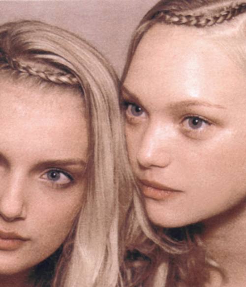 Lily Donaldson and Gemma Ward backstage at Rochas Spring 2006.