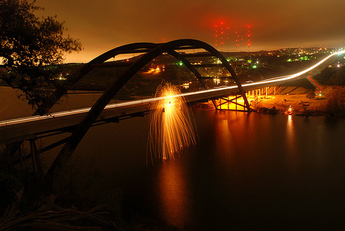 shinyweather:  Fire on the Bridge! by Pixelated~Light