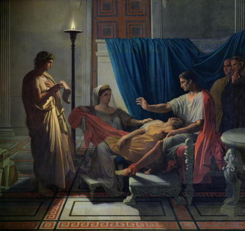 Jean-Auguste-Dominique Ingres. Virgil Reading the Aeneid to Livia, Octavia and Augustus. ca. 1812. Oil on canvas. Musée des Augustins. Toulouse, France.