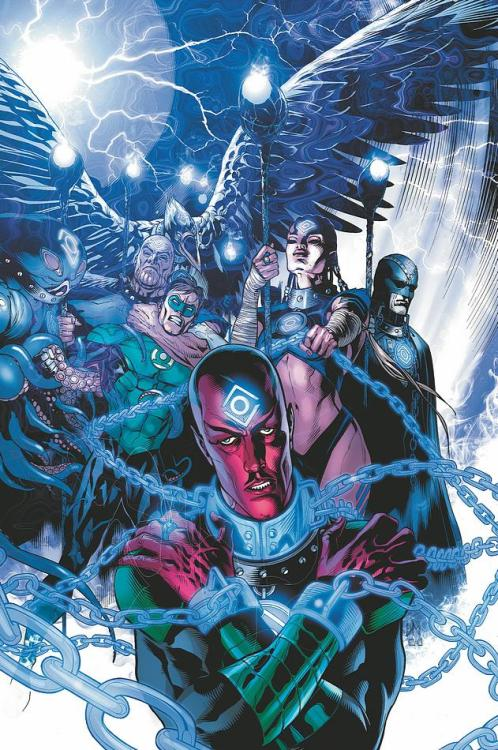 Sinestro and Hal Jordan lose to the Indigo Tribe on the cover to Green Lantern #10 from DC.