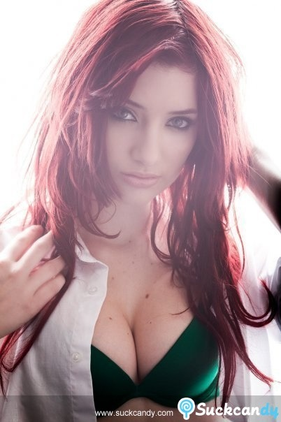 Green bra, red hair