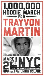 lanomrah:  #Justicefortrayvon #trayvonmartin #NYC  1 million hoodies, 1 million signatures on Change.org… Show the world we are all Trayvon. 1. WEAR YOUR HOODIE ON WEDNESDAY 3/21 and upload a pic to Twitter, Facebook or Instagram with the hashtag #millionhoodies.3. SIGN THE CHANGE.ORG PETITION - started by Trayvon's parents. Currently at 530,000 signatures, we can move the needle to 1 million this week!http://www.change.org/petitions/prosecute-the-killer-of-our-son-17-year-old-trayvon-martin2. JOIN US IN NYC - Throw on your hoodies and come gather in Union Square to show your support for justice for Trayvon Martin!