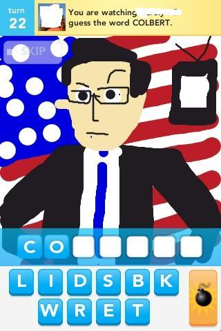 I've been playing the game Draw Something like crazy. I suppose it should really be called Draw Something That Isn't Your New Book so naturally It's the hot new craze that's sweeping the comics nation.