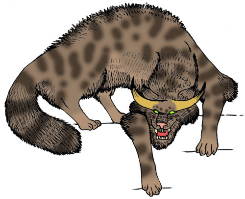 THE HORNED DEMON CAT OF WORLD WAR II - A TRUE STORY It could have been a scene enacted from Dante's 'Inferno' - even the clouds seemed to be wreathed in flames as torrent after torrent of plummeting German bombs screamed through the darkened skies over south London, and danced a fiery tarantella of death upon its shuddering streets, like a flurry of shrieking souls in everlasting torment. And in the midst of this panorama of pandemonium was Howard Leland - one of many volunteers with the ARP (Air Raid Precautions) who had been boldly defying the deadly rain of missiles throughout that fearful evening in October 1943 in a desperate bid to minimise its malevolent effects. Little did Leland realise, however, that he would soon encounter something infinitely more sinister, and malign, than anything conjured forth by the wartime enemy.As the ground reverberated from the intensity of yet another mighty explosion nearby, Leland ran into a deserted house to take shelter, until the immediate danger had passed. The building's interior was pitch-black, but with the aid of his torch he located a staircase, and rested on the bottom step for a while, waiting for this latest airborne assault to end.Suddenly, a cold shadow of fear swept across him, for as he sat there he realised - indefinably but undeniably - that he was no longer alone in that house. Something - not someone - else was here too, close by, and watching him. Unbidden, his eyes gazed upwards, to the top of the stairs, and the feeling intensified. Surely there, concealed amid the stygian gloom, was the source of his fear - and now he would reveal its identity.Leland switched on his torch again, directing its penetrating beam onto the topmost stair - and beheld a hellish sight that transfixed him with fear, expelling from his mind all of that evening's previous horrors in an instant. Crouched upon the stair was a huge hairy beast with tabby-like stripes of black and brown, clawed paws, and blazing eyes like glowed like twin infernos, mesmerising Leland with their incandescent gaze. It would have resembled a monstrous cat - had it not been for the pair of sharp pointed horns that protruded from its skull!For almost a minute, Leland remained motionless, held in thrall by the cold aura of palpable evil that radiated inexorably from the beast's unblinking eyes - and then it moved! With a single colossal leap, it sprang from the stair, plunging down into the shadowy room - but before it reached the ground, it had vanished. Yet its presence had not entirely gone - for Leland could plainly hear a spine-chilling yowling cry, echoing in the empty room.At that same instant, however, the sound of human footsteps came from the open front door - and the spell was broken. The eldritch cries ceased immediately, and through the door walked two of Leland's ARP comrades. Their reassuringly familiar forms and voices swiftly dispersed the shroud of terror that had encompassed Leland only moments before, and encouraged him to recount his chilling experience. Neither of his friends had heard anything when entering the house, however, so he did not expect them to treat his account seriously - which is why he was so surprised when they listened silently and with grave expressions throughout his story, making no attempt to scoff or scorn his words.When Leland had finished, his friends informed him that he was not the first person to have spied the feline monster. On the contrary, it had been seen by many different eyewitnesses over a period of several years, and the sightings were always the same - an immense horned cat with demonic eyes, squatting at the top of the stairs.Nevertheless, in the hope that a more straightforward explanation may be forthcoming, the three men walked up the stairs and searched everywhere thoroughly for any physical evidence of the creature's reality, but nothing was found.Still disturbed by the memory of this grotesque entity but anxious to uncover its identity and possible significance, two days later Leland visited a renowned clairvoyant, John Pendragon, and recalled to him his encounter. After listening intently, Pendragon located the house on a large map of London, then placed a forefinger on the precise spot marking it.At once, Pendragon's mind was filled with a whirling vista of cats - countless furry wraiths swirling all around at the top of the deserted house's stairs in a screeching, spitting vortex of feline fury, a mad maelstrom of undying hate. And at its very centre was something much larger, but it was not a cat - not even a horned demon cat. It was a man - haggard and despairing, with a noose in his hand, about to place it around his own neck.After describing this vision to Leland, Pendragon asked him to make enquiries among the house's neighbours, to discover whether any details of its history and of its previous owners corresponded with those in his vision. A week later, Leland returned, bearing some extremely interesting (and vindicating) news.One of the house's former inhabitants had been an ardent practitioner of the black arts, in the vain hope of improving what he had perceived to be a wretched, unfulfilled life. In accordance with one particularly grisly ritual, he had routinely slaughtered numerous cats for sacrifice upon an unholy altar. Ultimately, the balance of his mind had become totally unhinged, and he had committed suicide - hanging himself with a noose, suspended from the banister at the top of the stairs. Shortly afterwards, the great horned cat was seen there for the first time, and spectral yowling cries have often been heard since too.When Leland asked his opinion as to this monster's precise nature, Pendragon suggested that it was probably an elemental spirit - one whose feline appearance and vitriolic hatred had been created by the restless ghosts of the departed sorcerer's many feline victims, and which would linger indefinitely in the grim locality where they had all met their terrible deaths.Although the vast majority of Britain's mystery cats are unquestionably exotic non-native cats that have escaped or have been deliberately released from captivity, or are simple misidentifications of common animals, some investigators have speculated whether a few of them may in reality be paranormal (zooform) entities 'disguised' as big cats – as would certainly seem to have been the case with London's horned demon cat of World War Two.Incidentally, it should be noted here that although the original source of this case was John Pendragon's autobiography, Pendragon (1968), which was written in collaboration with paranormal mysteries writer-investigator Brad Steiger, it only contained a fairly brief account of events. However, Steiger's own book, Bizarre Cats (1993), included a much more detailed, greatly expanded version as related to him by Pendragon, which not only emphasised the entity's feline nature but also incorporated other noteworthy additional information - such as the full name of the eyewitness (merely referred to by his initials in Pendragon's book), and the hideous cat-slaying rituals performed by the man who had subsequently committed suicide in the house where the horned demon cat was later seen.This post is excerpted from Dr Karl Shuker's forthcoming book, Cats of Magic, Mythology, and Mystery, to be published by CFZ Press later this year.Source: Dr Karl Shuker ShukerNatureHorned Cats Reports of horned cats are usually associated with legends of demon cats and not taken very seriously by cryptozoologists or any other scientists. One exception is the horned cat that is supposed to be native to two islands near Java, Alor and Solor. This animal, dubbed the Lesser Sundas cat, is the size of a housecat. It has two little knobs on its head like small horns, each one located just above an eye. It sounds weird, but it is at least slightly possible that this animal could exist. The islands off southeast Asia hold many of the world's most bizarre animals, and small islands can often have primitive relics or creatures with truly weird evolutionary adaptations.  Horns have evolved independently many times, so it is at least slightly possible that a cat or an animal resembling a cat could develop something like this. If it exists and is not a true cat, the animal could be a feline look-alike such as a civet or perhaps a catlike marsupial. It could even be a variety of primitive ungulate that happens to look a bit like a cat, perhaps even a mesonychid. Whatever it is, it seems likely that if it exists, it would be a new species. Source, newanimal.orgYou can find out more about Horned Cats from the following sources:Encyclopedia of Cryptozoology: A Global Guide to Hidden Animals and Their Pursuers By Michael NewtonThe Beasts that Hide from Man: Seeking the World's Last Undiscovered Animals By Karl P.N. ShukerTo discover more cryptids and mysterious creatures, please follow us at cryptidchronicles.tumblr.com or on twitter @cryptidfans!Don't miss out on our 200th post giveaway!