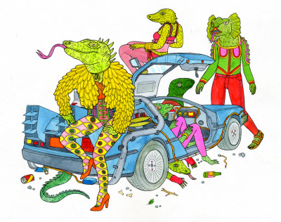 Lizards Back From the Future Prints for sale here.