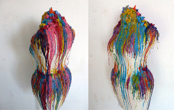 "bengiles:  WAX CRAYONS (by ben///giles)]  First sculpture"" yeahhh im posting it again,"