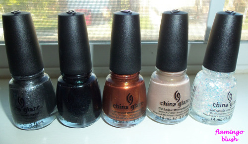 China Glaze Hunger Games Polish   Stone Cold Smoke and Ashes Harvest Moon Fast Track Luxe and Lush http://bit.ly/GC0gNc