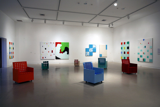 mysticquest:  Installation view, 'Mary Heilmann: To Be Someone', Orange County Museum of Art, Newport Beach CA, 2007  Pete was telling me about this, I feel good.