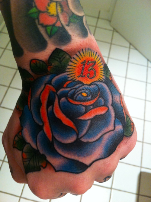 WOOP! New hand tattoo by Judd Ripley. Loving it.