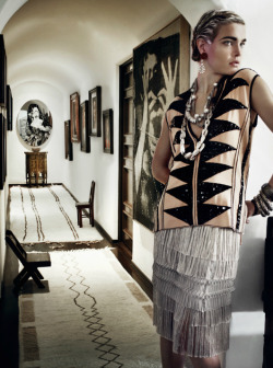 Flapper girl chic!Natalia Vodianova photographed by Mario Testino