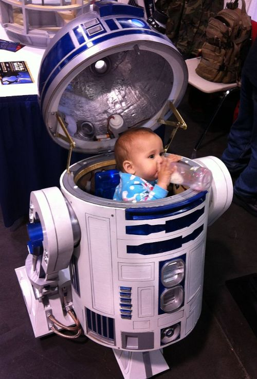 Well, that explains why R2 only made beeping and booping sounds - it was baby talk! (via Lair of the Dork Horde)