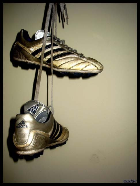 There will be never a day that i will hang up my boots,Soccer has been there for everything, when im sad, or feel shitty thats all i wanna play. I will die will my boots on my feet, Forever Football Forever soccer <3