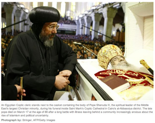 Thousands attend funeral of Egypt's Pope Shenouda