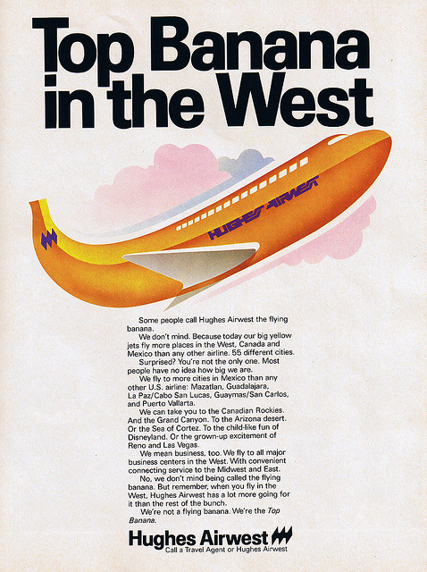1977 Hughes Airwest advertisement  by Dying In Downey on Flickr.