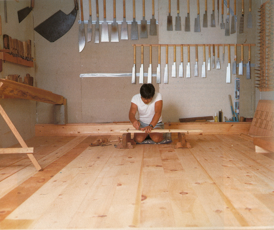 brushfactorywoodwork:  Toshio Adate in his workshop.  The Workbench Book