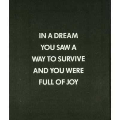 fjsdlafkj:  jenny holzer—in a dream you saw a way…from the survival series